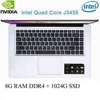 os זמינה עבור P2-5 8G RAM 1024G SSD Intel Celeron J3455 NVIDIA GeForce 940M מקלדת מחשב נייד גיימינג ו OS שפה זמינה עבור לבחור (1)