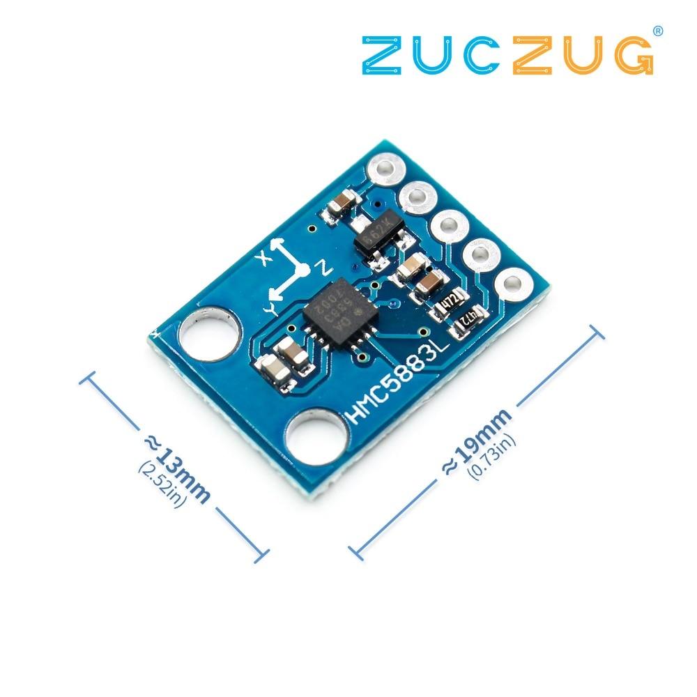 High Accurancy IIC/I2C GY-273 HMC5883L 3-Axis Compass Magnetometer Sensor Board Module For Arduino 3-5V Power