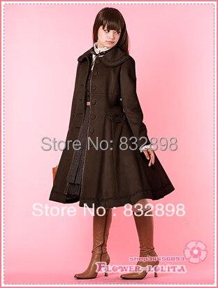 Sur Capuche Pas Manteau Filles Long Japon Laine Manteaux À Chaude D'hiver Costume Lolita Marque Doux Vente Brown Mesure Marron En Cher xqC11I