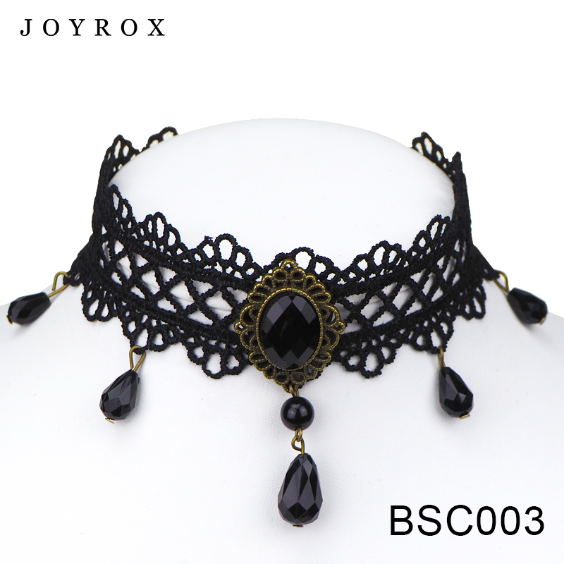 POPLOV Black Velvet Lace Vintage Women Chocker Fashion Gothic Style Necklace Pendant Collar 2017 Hot Wedding Jewelry Choker