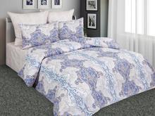 Комплект постельного белья полутораспальный Amore Mio, голубой, с узором