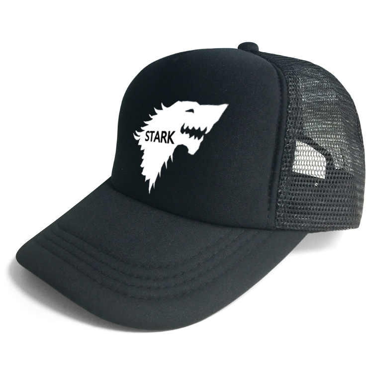 ... Game of thrones House Stark of Winterfell ice wolf baseball hat Snapback  adjusted mesh cap sunhat ... 979f7fe92ac