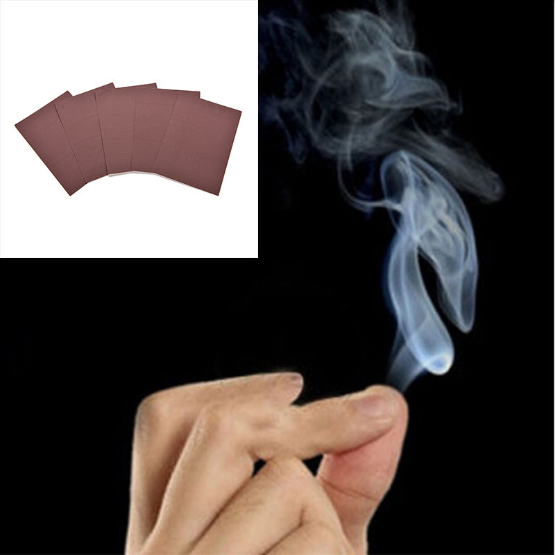 10pcs/lot Close-up Magic Tricks Magic Smoke From Finger Tips Magic Trick Surprise Prank Joke Mystical Fun Toy Skilful Manufacture Magic Tricks