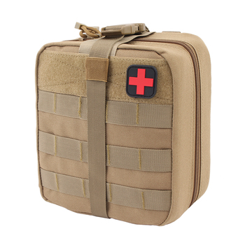 TACTIFANS First Aid Pouch Patch Bag Molle Hook and Loop Amphibious Tactical Medical kit EMT Emergency EDC Rip-Away Survival IFAK 4