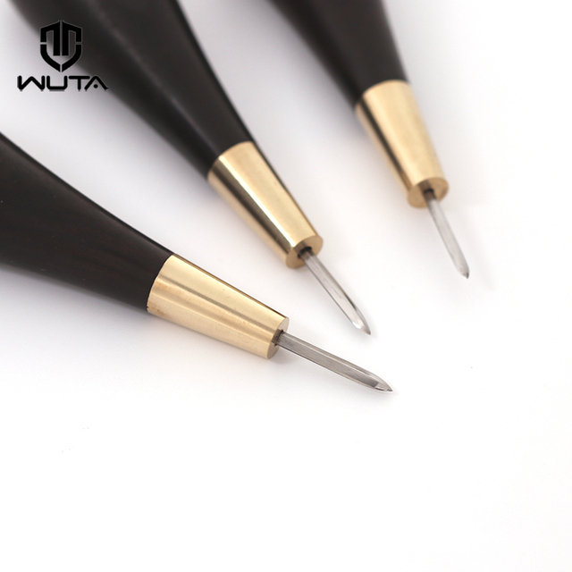 c37f039c7 WUTA Diamond Shape Stitching Awl Ebony Blackwood Handle Leather Craft  Sewing Awl Kits Handmade Sewing Tools DIY Stitcher Taper