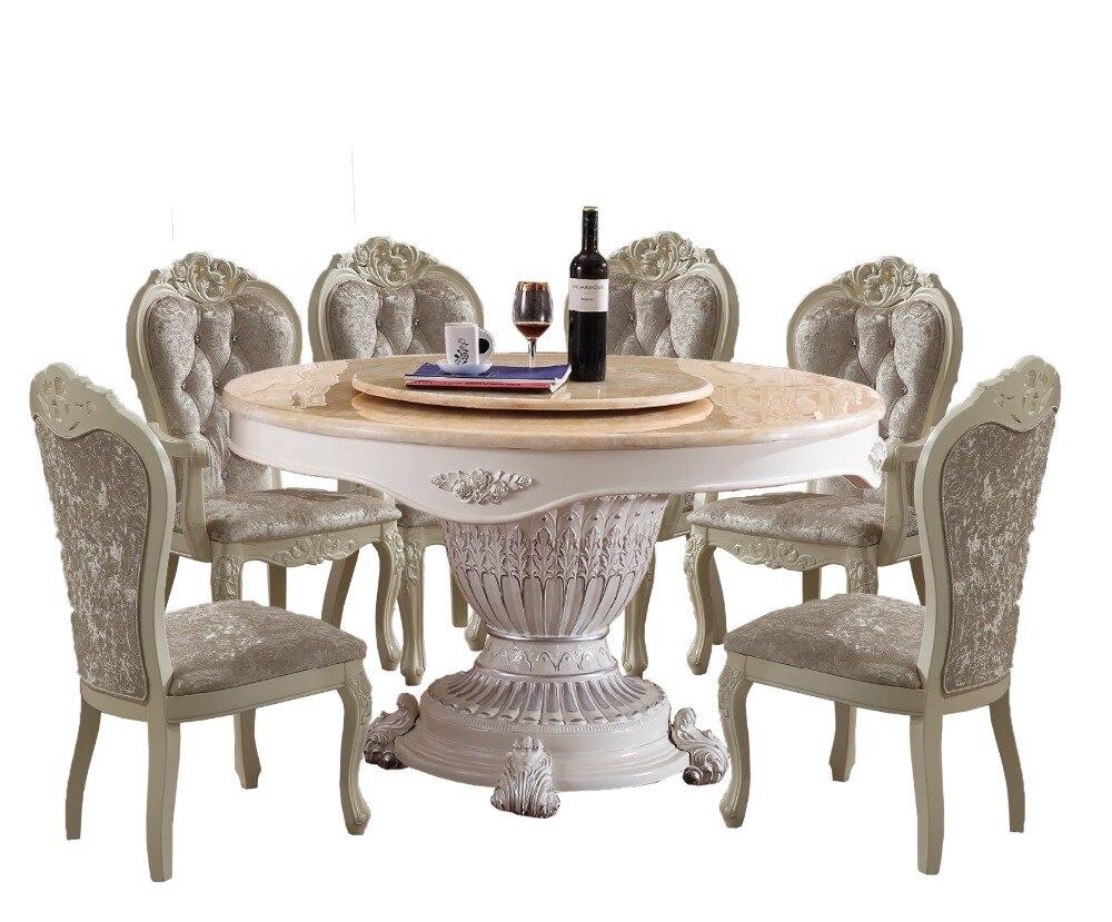 2018 дубовая мебель Meuble обеденный стол наборы гостиная таблицы Бесплатная доставка в Великобритании! Мрамор Топ обеденным с 8 шт. стулья