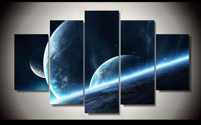 Science Fiction Universe Hd Canvas Wall Painting For