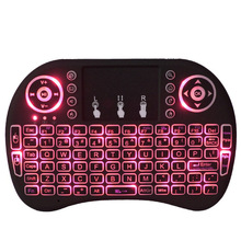 2.4GHz Wireless Backlight Russian Keyboard With Mouse Touchpad Handheld Remote control for Android Smart TV BOX Mini Computer