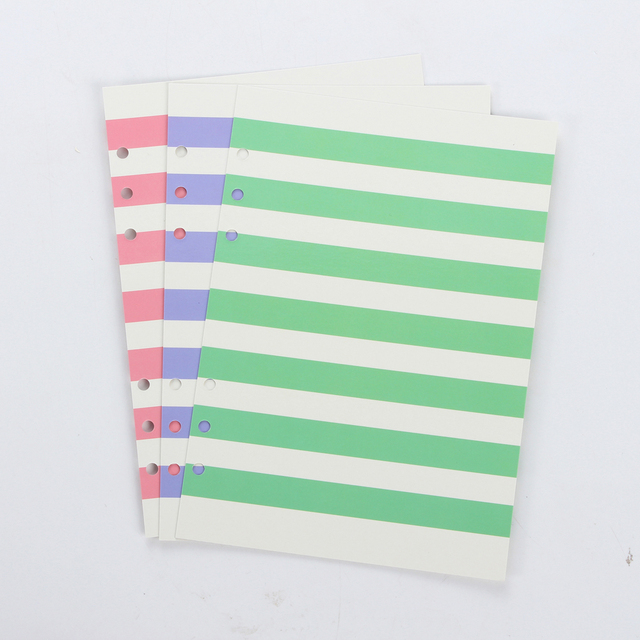 New Original Colored Line Pattern Dividers For Spiral Notebooks Cute