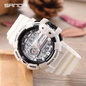 Image 5 - 2019 sanda 새로운 s 충격 남자 스포츠 시계 남자에 대 한 큰 다이얼 디지털 시계 럭셔리 브랜드 led 군사 방수 남자 손목 시계