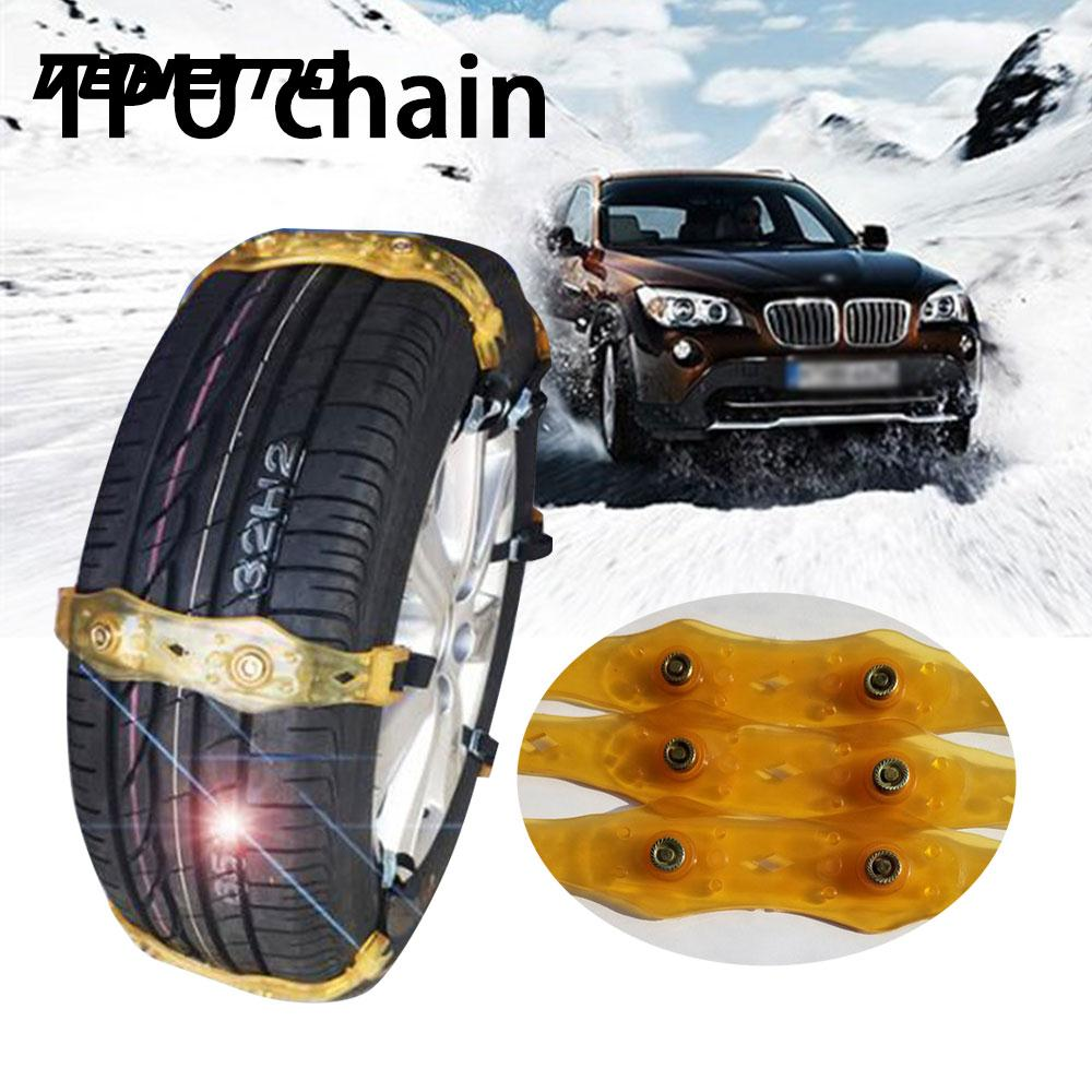 Vehemo Snow Chain Anti-Skid Belt Snow Tire Chain 1 Pc TPU Durable Truck SUV Mud Wheel Easy Installation Roadway Safety