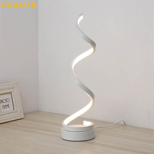 Modern LED Table Lamps Gold White Decoration Table Lamps for Bedroom ...