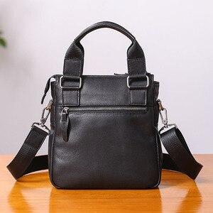 Image 2 - AETOO حقيبة يد صغيرة للرجال جلد عمودي الأعمال عادية الكتف قطري عبر الجسم حقيبة رجالية جلدية