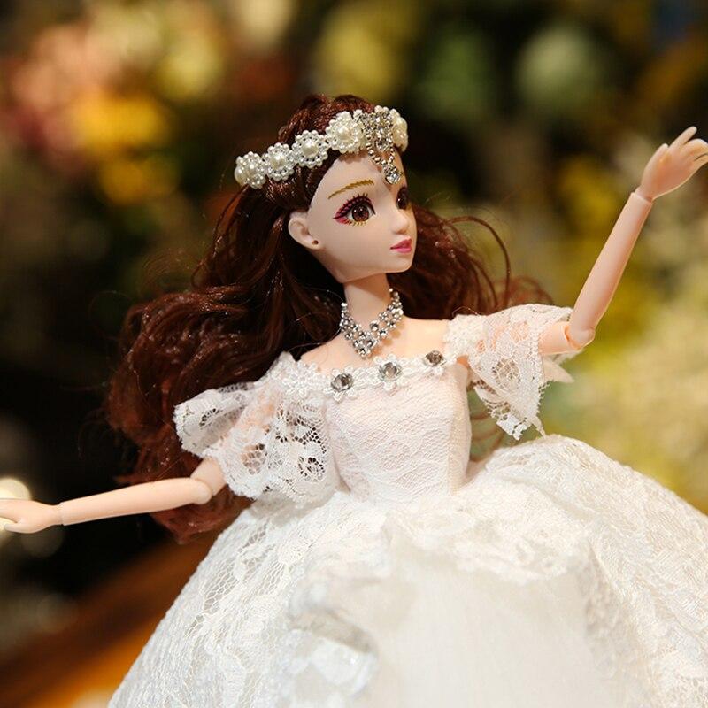 Poupée de mariage musique princesse jouets pour filles bébé poupées jouets pour enfants Reborn poupée envoyer aux filles les meilleurs cadeaux de noël - 3
