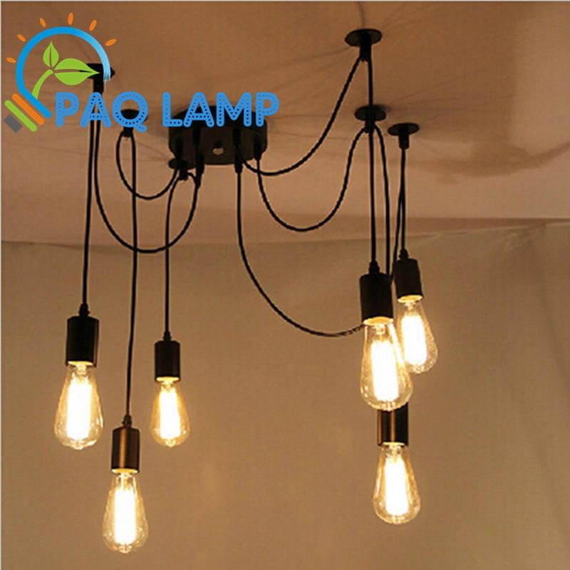 Ceiling Lights & Fans Bright Loft Vintage Lamp Pendant Lights E26/e27 Iron Metal Restaurant Bar Sitting Room Lighting Light Fixture~ No Blub By Scientific Process