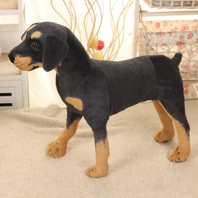 70 cm Kawaii Super grande taille en peluche en peluche vraie vie chien noir jouets enfants énorme peluche animaux poupées bonne qualité cadeaux chaud - 5