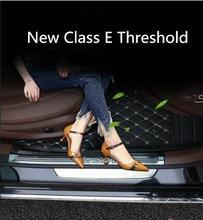 Para mercedes benz nova e class limiar e200l e300l decoração adesivo pedal bem vindo modificação decoração interna