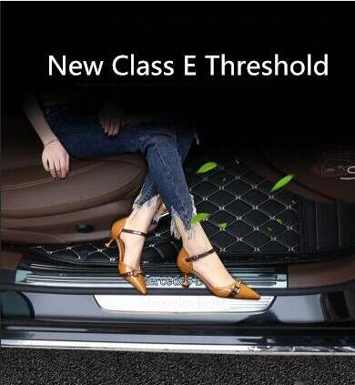 Per Mercedes Benz Nuovo E Classe Soglia E200L E300L Decorazione Adesivo Pedale Benvenuto Pedale Decorazione Interna di Modifica