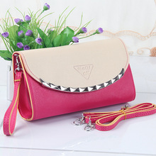 New handbag shoulder bag Messenger bag long section of the women's wallets Clutch