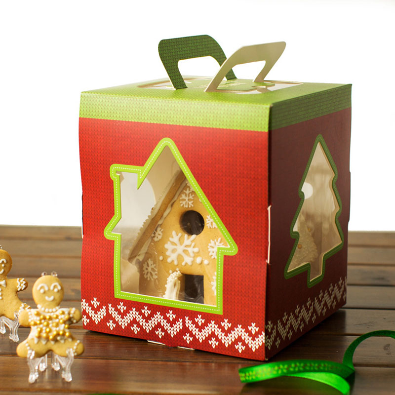 100pcs Small House Candy Boxes Christmas Tree Packaging ...
