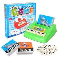 التدريب رياض الأطفال مطابقة إلكتروني الإنجليزية كلمة لغز محو الأمية الأبجدية رسائل بطاقة تعلم ألعاب تعليمية
