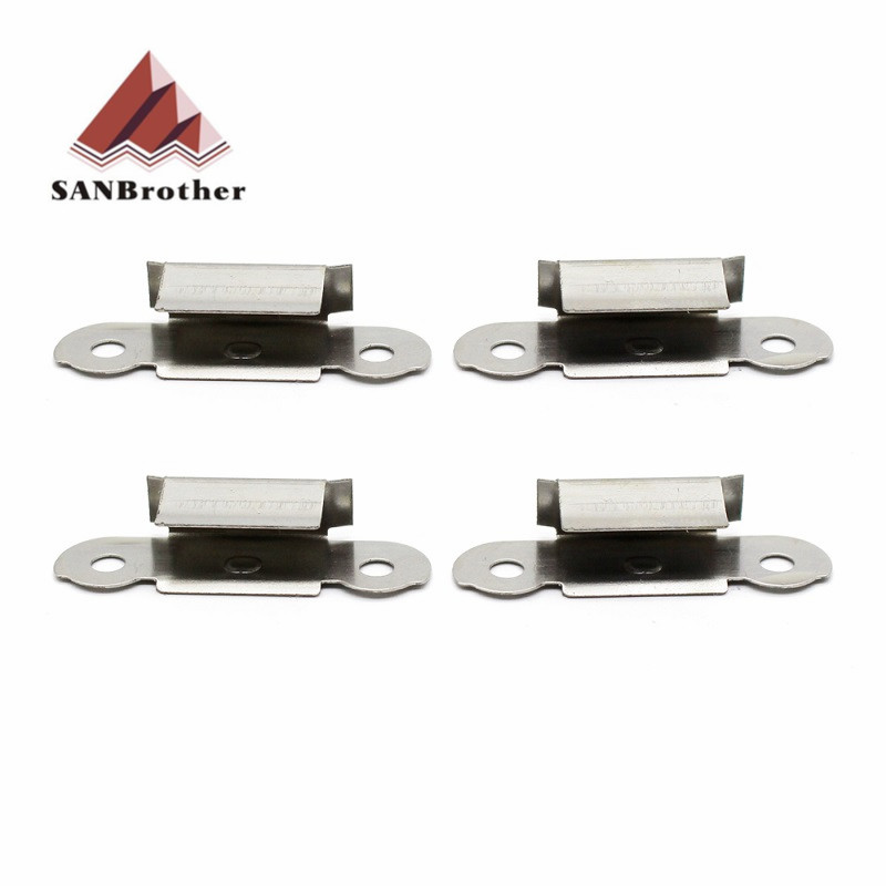 4pcs/lot Stainless Steel Glass Heated Bed Clip 3D Printers Parts For UM3 UM2 Build Platform Glass Retainer Clamp Accessories4pcs/lot Stainless Steel Glass Heated Bed Clip 3D Printers Parts For UM3 UM2 Build Platform Glass Retainer Clamp Accessories