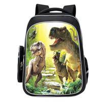 38CM Jurassic monster Bag animal World Park Backpack Dinosaur Triceratops Tyrannosaurus pattern knapsack Schoolbag Toys Gift