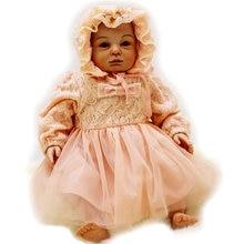 silicone reborn baby doll lifelike blue eyes newborn accompany sleeping baby doll toy for girl Children Christmas birthday gift