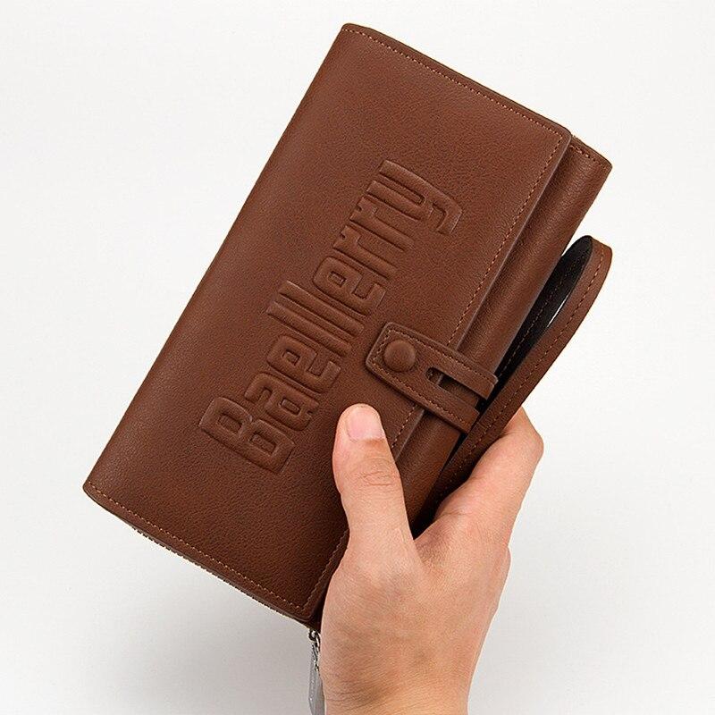 Men S New Business Long Luxury Brand Clutch Men Wallet Fashion Male Zipper Vintage Purses Leather