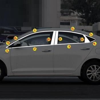 Auto Chroom Automovil Auto Body Window Deurklink Buitenkant hoogwaardige Sticker Strip Accessoire Onderdelen 16 17 18 VOOR hyundai Verna
