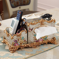 Европейский стиль многофункциональный ткани коробка дистанционного управления ретро Роскошные гостиная украшение стола для barware