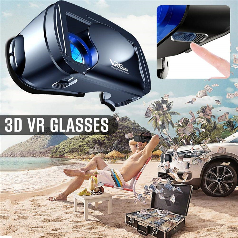 VRG Pro 3D VR Glasses Virtual Reality Full Screen Visual Wide-Angle VR Glasses For 5 to 7 inch Smartphone Eyeglasses Devices 4