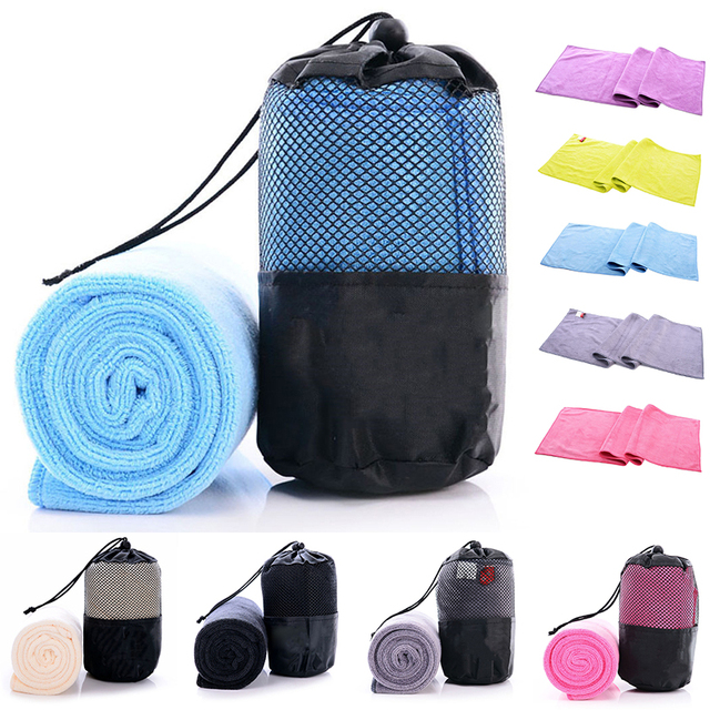 New Fast Quick Drying Towel Gym Sport Travel Camping Microfiber Cloth with Mesh Bag For Outdoor Sport Towels