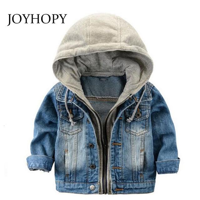 Di modo del Denim del bambino Dei Ragazzi Dei Bambini della tuta sportiva  capretti del cappotto giacche per Bambino delle ragazze del Ragazzo giacche  con ... a78719b7729