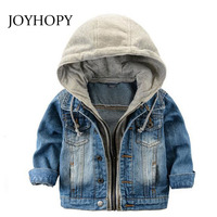Fashion Denim Baby Boys Children Outerwear Coat Fashion Kids Jackets For Boy Girls Jacket Hooded Spring
