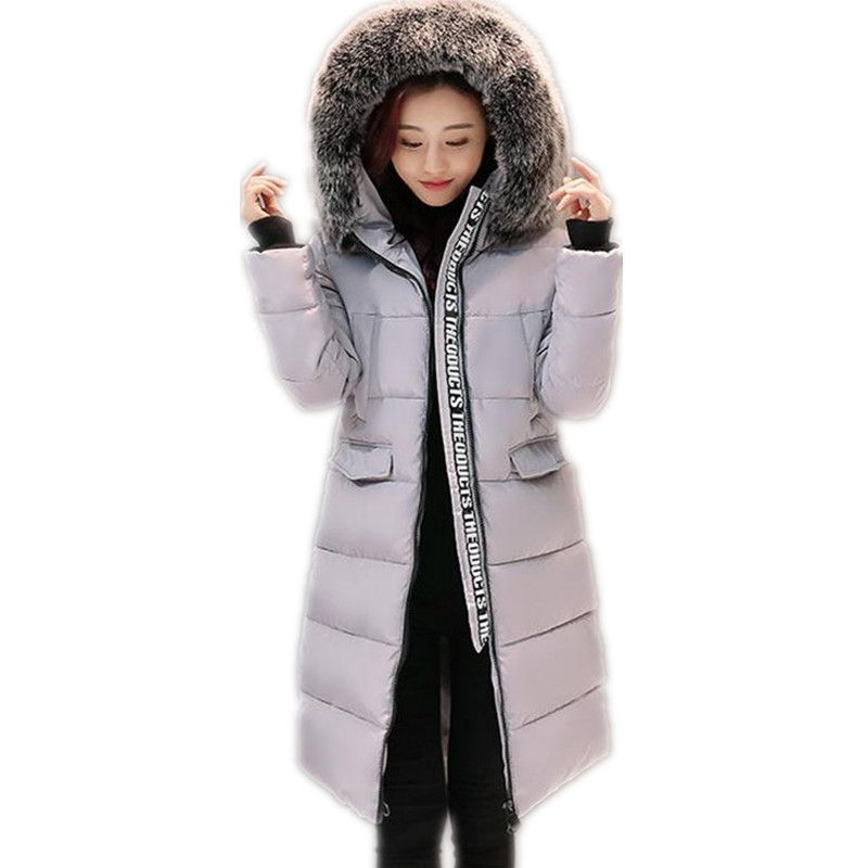 2017 New Women Winter Jacket &Coats Female Large Fur Collar Hooded Warm Thicken Winter Down Cotton Jacket Parkas CQ002 new winter jacket coats 2017 women parkas long slim thicken warm jackets female large fur collar hooded cotton parkas cm1350