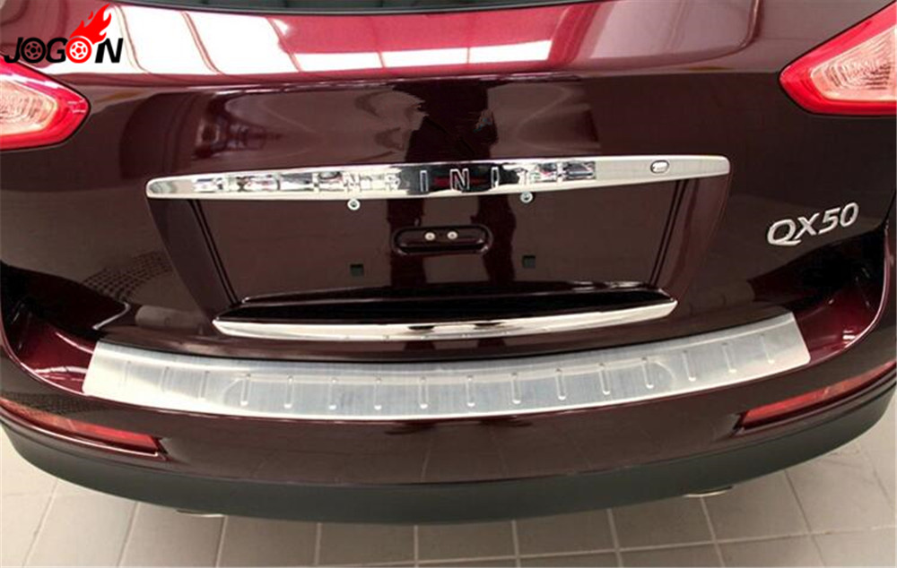 Accessories Stainless Steel Rear Bumper Protector Tailgate Cover Door Sill Plate For INFINITI EX25 EX35 EX37