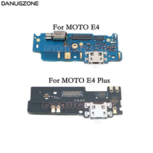 USB Charging Port Dock Plug Jack Connector Charge Board Flex Cable With Microphone + Vibrator For Motorola Moto E4 Plus