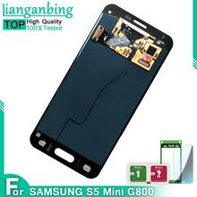 Baru 4.5 ''LCD Display untuk Samsung Galaxy S5 Mini Display G800 G800F G800H Rakitan Digitizer Layar Sentuh Super AMOLED(China)