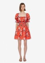 New 2019 summer floral print ruffles Chiffon dress Women sweet A410
