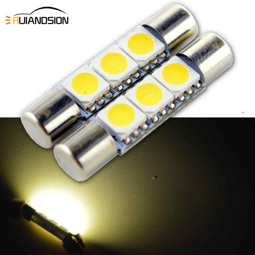 2pcs Car Led C5W Warm White Interior Light 28mm 31mm 3SMD 5050 Wedge Car Auto LED Festoon Dome Reading License Plate Light 4300K