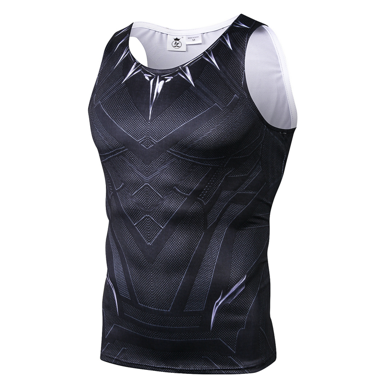 Black Panther Vest Sleeveless   Tank     Tops   3D Printed   tops   Men Fitness Cosplay Halloween Costumes Male Crossfit Bodybuilding clothe