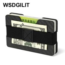Carbon Fiber Card Holder Men Mini RFID Anti-Thief Card Wallet Slim Credit Card Holder