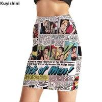 Plus la Taille XXL XXXL XXXXL Crayon Jupe Moulante Nouvelles Drôle papier Imprimé Jupes Femmes Printemps Été Serré Sexy Mini Jupe 8283016