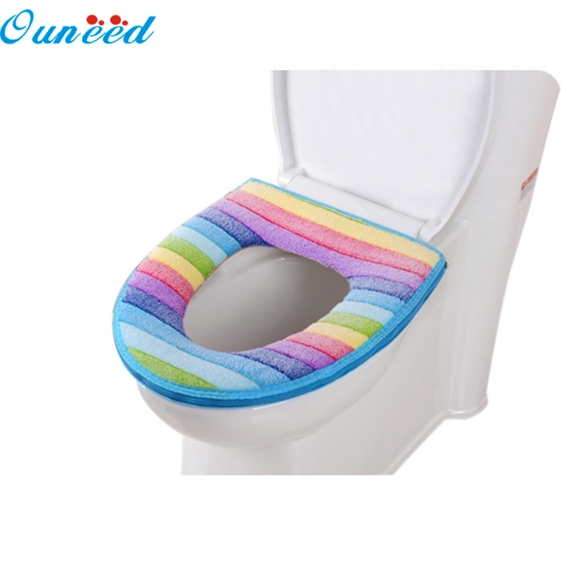 Ouneed Happy Home Toilet Seat Cover Bathroom Toilet Seat