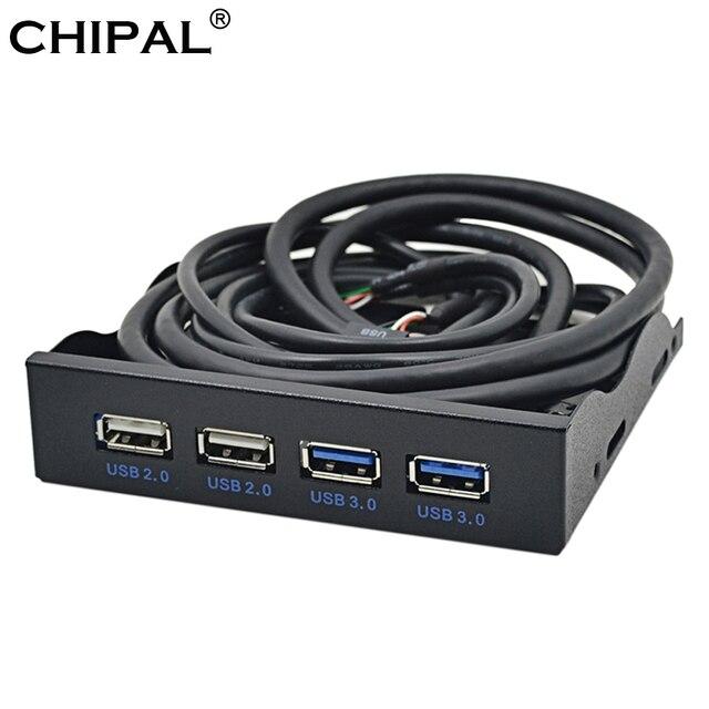 CHIPAL 4 Cổng USB 2.0 USB 3.0 Mặt trước USB3.0 Bộ Chia Hub Nội Bộ Combo Giá Đỡ Adapter dùng cho Máy Tính Để Bàn 3.5 Inch đĩa mềm Bay