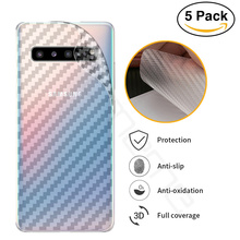 3D Carbon Fiber Screen Protector Film rear for Samsung Galaxy S10 S10e Note 10 Plus Pro 5G Full coverage and full protection