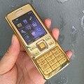Оригинальный Nokia 6300 Mobile Телефон Классический Телефон 6300 Gold & Один год гарантии и Русская Клавиатура Арабский Клавиатура