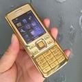 Original Nokia 6300 Mobile Phone Classic Cellphone 6300 Gold & One year warranty & Russian Keyboard Arabic Keyboard