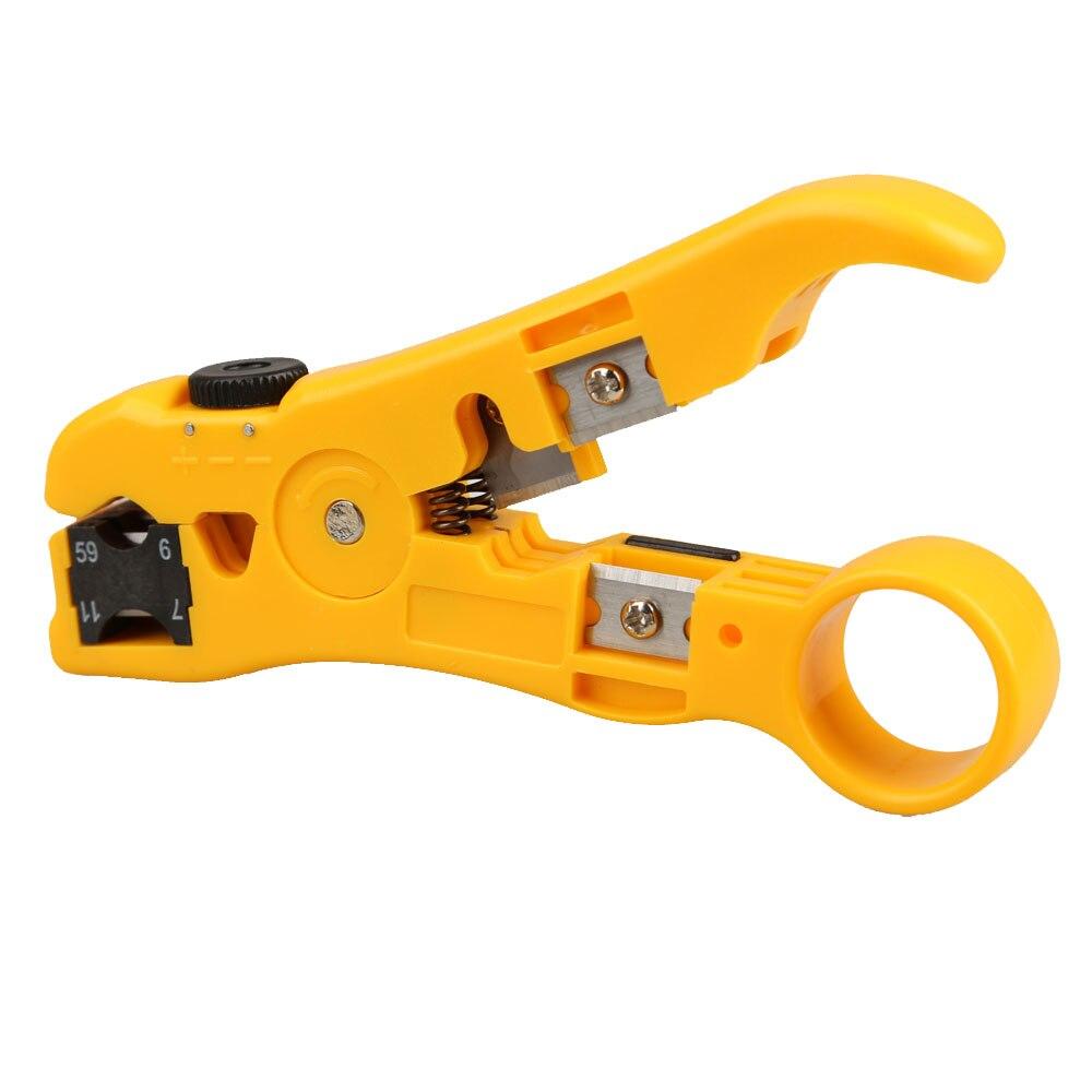 Универсальный сетевой телефон Cable Stripper Провода Cutter Tool Kit для UTP STP RG qjy99